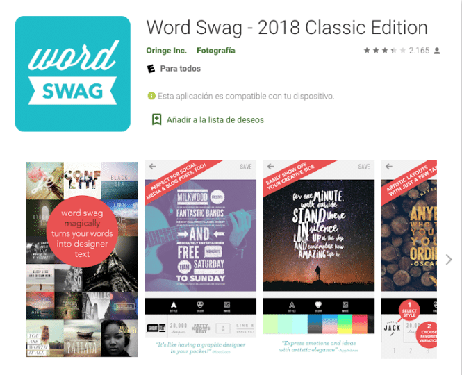 Word Swag pro apk 2019 Classic Edition