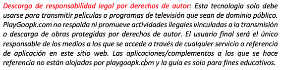 disclaimer playgo
