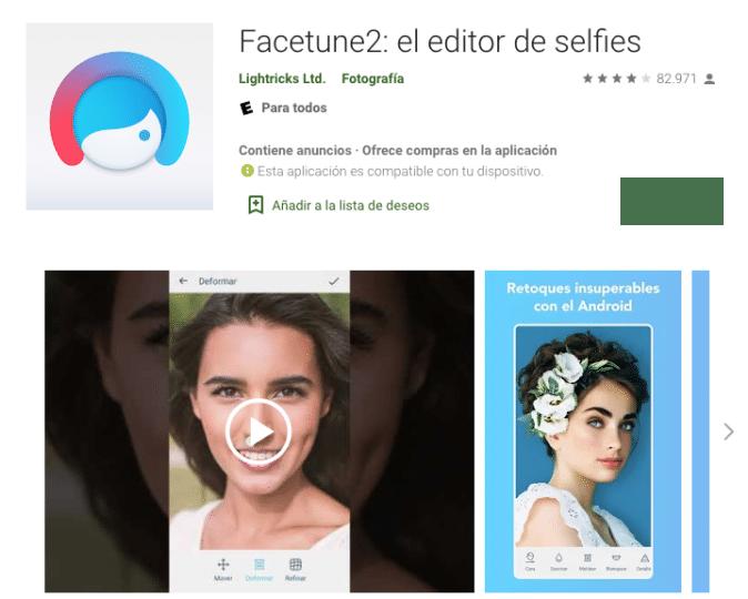 facetune2 pro apk el editor de selfies