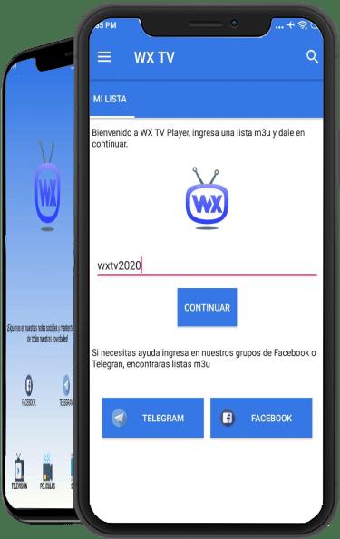wx tv lista m3u clave