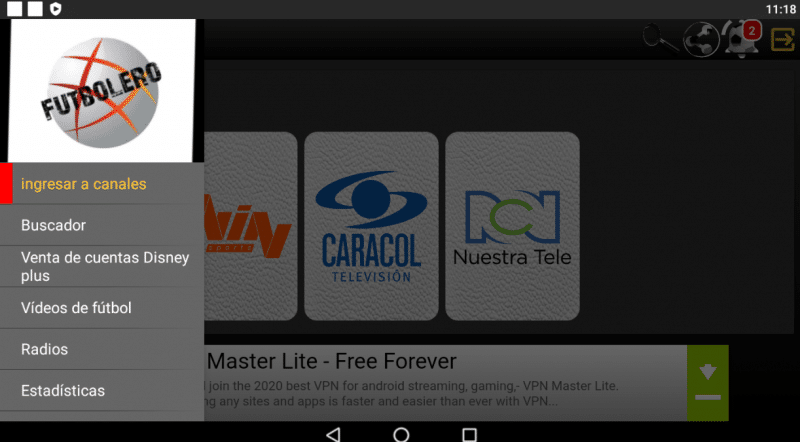 instalar Futbolero TV Plus apk