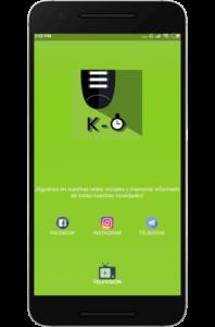 actualiza kick off app