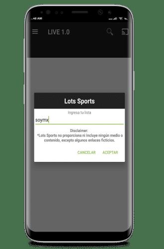 instalar lots sports lista url m3u