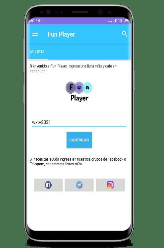 descargar Fun Player app lista url