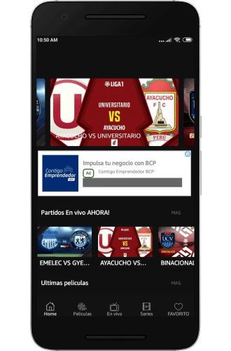 Pronto Futbol Play smart tv