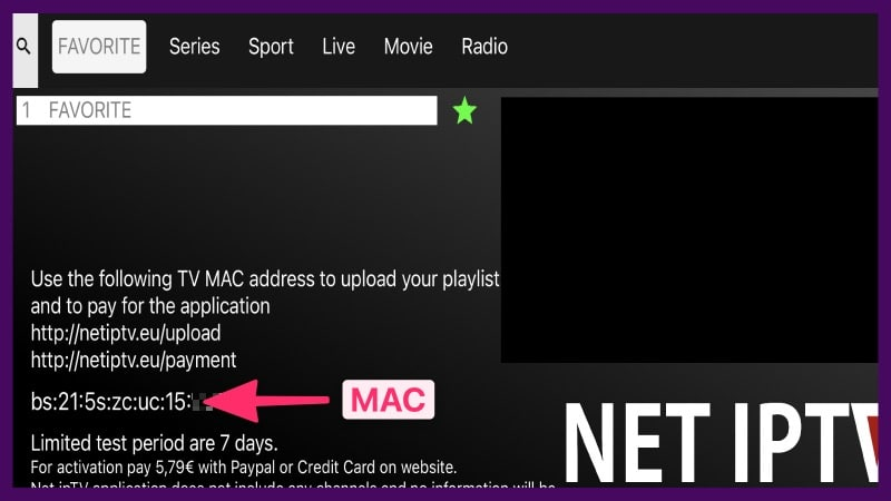 mac para net iptv