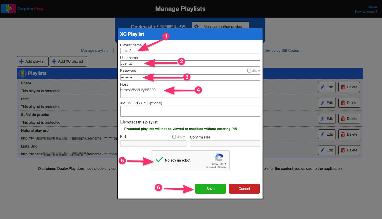 agregar listas iptv duplex