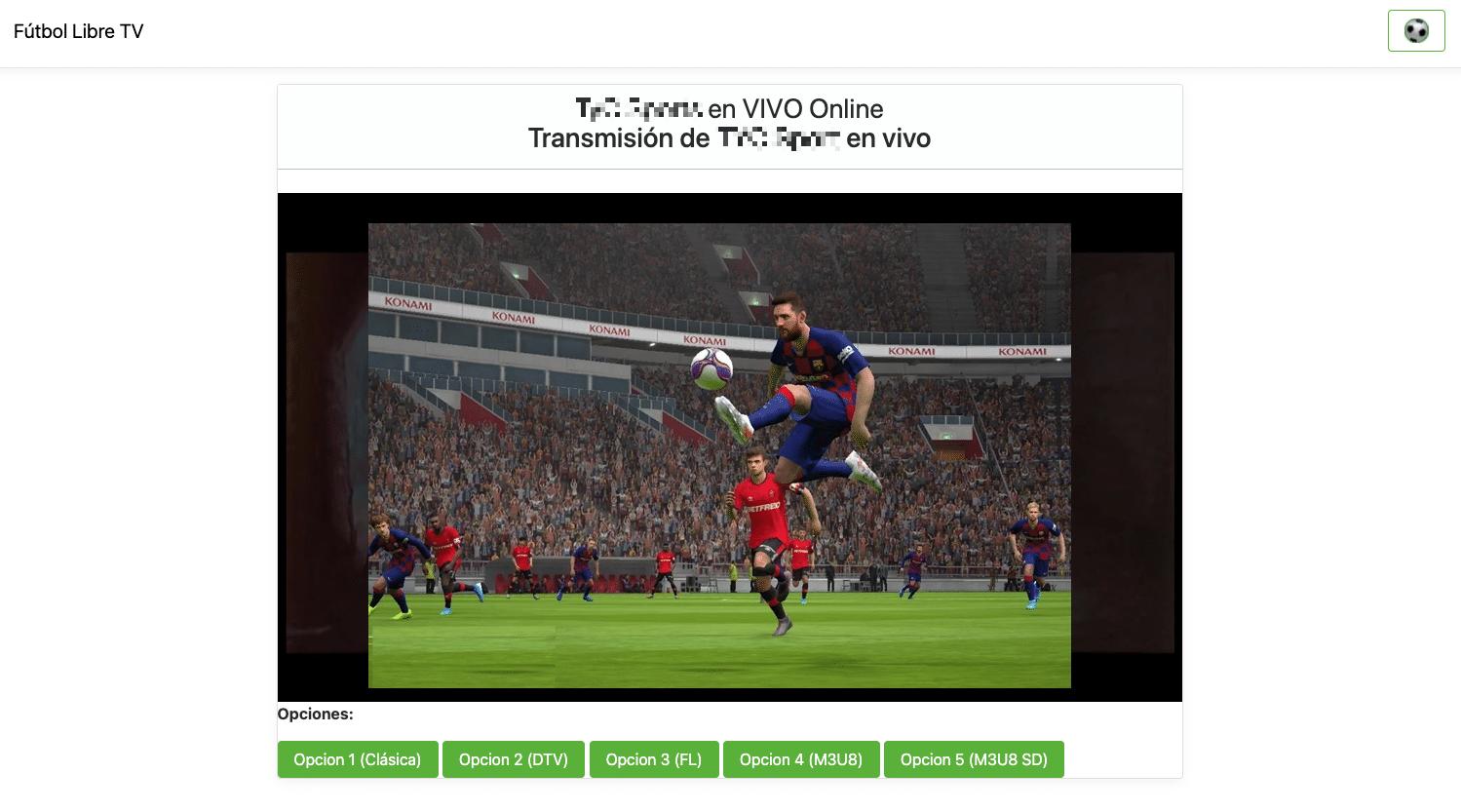 futbol libre en vivo online
